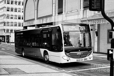 mercedes benz citaro used by Cardiff bus public transport Wales United Kingdom Art Print