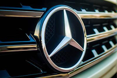 Photograph - Mercedes-benz Emblem -ck0036c by Jill Reger