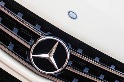 Photograph - Mercedes-benz Emblem - Grille Logo -0030c by Jill Reger