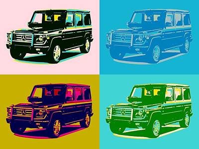 Mixed Media - Mercedes Benz G Class Pop Art by Dan Sproul