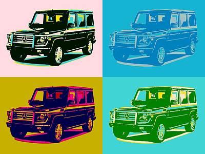 Show Mixed Media - Mercedes Benz G Class Pop Art by Dan Sproul