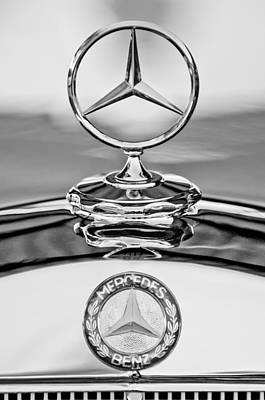 Mercedes Benz Hood Ornament 2 Art Print by Jill Reger