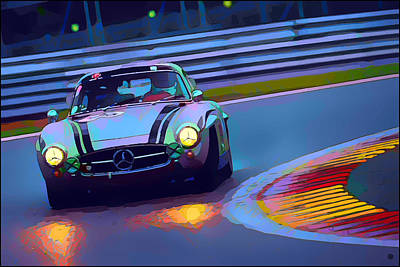Digital Art - Mercedes Benz Racing by Gary Grayson
