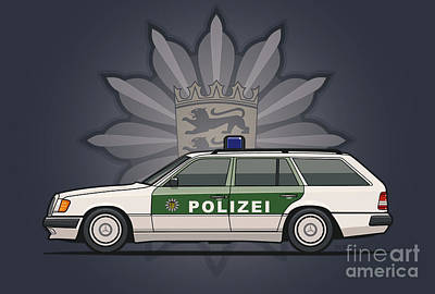 Mercedes Benz W124 300te Wagon German Police Original by Monkey Crisis On Mars