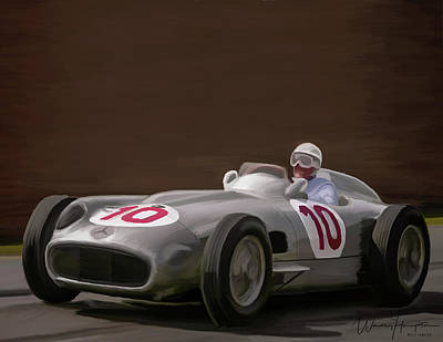 Painting - Mercedes-benz W196 Number 10 by Wally Hampton