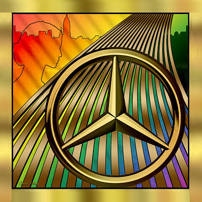 Digital Art - Mercedes by Chuck Staley