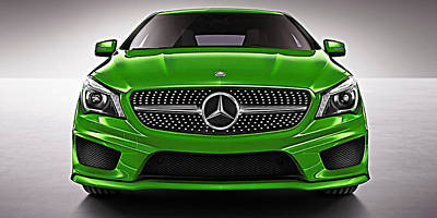 Mercedes Cla Class Coupe Collection Art Print by Marvin Blaine