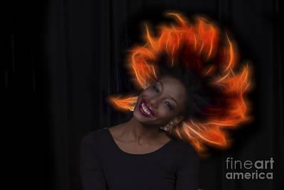 Photograph - Mercedes Dancer Modeling In Studio by Dan Friend