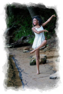 Photograph - Mercedes Dancing On The Beach by Dan Friend