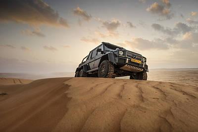 Mercedes G63 6x6 In Oman Desert Art Print