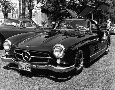 Stationary Photograph - Mercedes Gull Wing Coupe by Underwood Archives