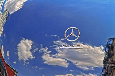 Photograph - Mercedes In The Sky Or Sky In Mercedes by Val Black Russian Tourchin