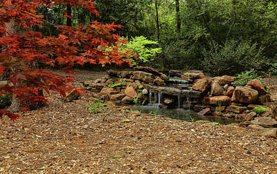 Photograph - Mercer Arboretum Waterfall 2 by Judy Vincent