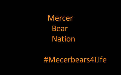 Photograph - Mercer Bear Nation by Aaron Martens