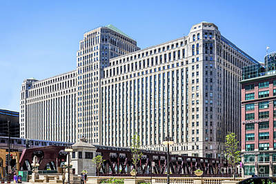 Photograph - Merchandise Mart Overlooking The L by David Levin