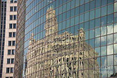 Photograph - Merchandise Mart Reflections by David Bearden