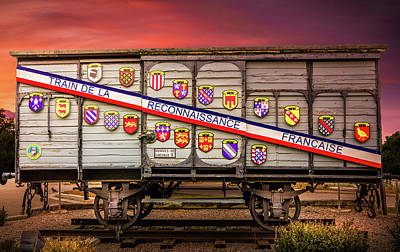 Photograph - Merci Train Car by TL Mair