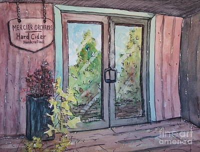 Painting - Mercier Orchards' Cider by Gretchen Allen