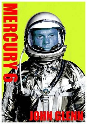 Mercury 6-john H Glenn Art Print by Otis Porritt