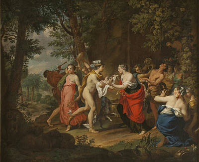 Mercury Confiding The Child Bacchus To The Nymphs On Nysa Art Print