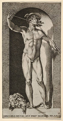 Drawing - Mercury by Giovanni Jacopo Caraglio