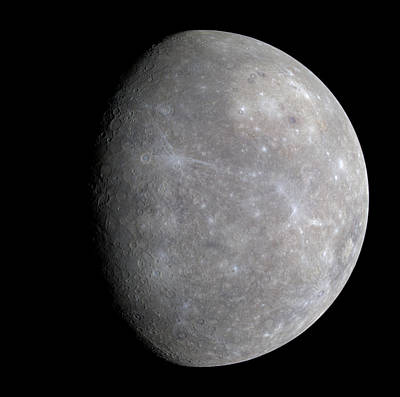 Photograph - Mercury In Color by NASA JPL Johns Hopkins Universit