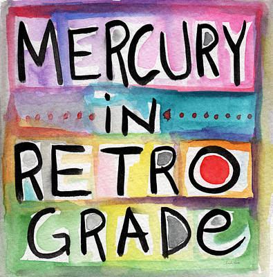 Mercury In Retrograde Square- Art By Linda Woods Art Print