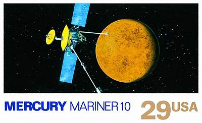 Painting - Mercury Mariner10 by Lanjee Chee