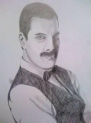 Drawing - Mercury Portrait by Gyorgy Szilagyi