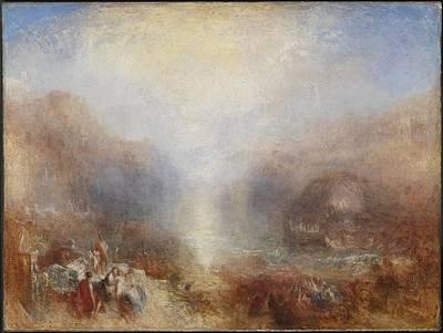 Aeneas Painting - Mercury Sent To Admonish Aeneas by Joseph Mallord