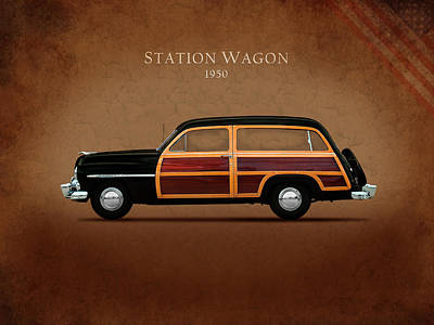 American Cars Photograph - Mercury Station Wagon 1950 by Mark Rogan