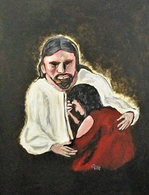 Painting - Mercy, No Sin To Great by Clyde J Kell