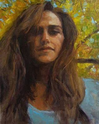 Painting - Meredith In Autumn by Brian Kardell