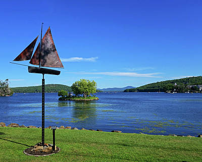 Photograph - Meredith Nh Art Installation Lake Winnepesaukee Ship by Toby McGuire