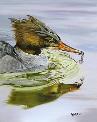 Waterfowl Painting - Merganser Ripples by Phyllis Beiser