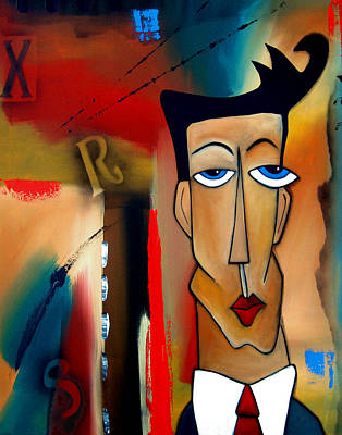 Picasso Painting - Merger - Abstract Art By Fidostudio by Tom Fedro - Fidostudio