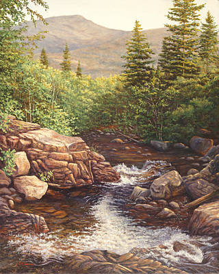 Crystal Cascade Falls, Pinkham Notch, Nh Art Print by Elaine Farmer