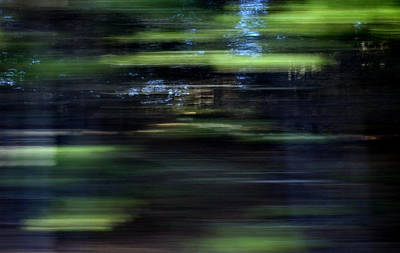 Abstract Digital Photograph - Merging Paths by Skip Willits
