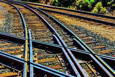 Merge Photograph - Merging Tracks by Garry Gay