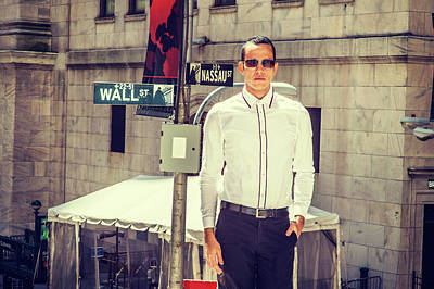 Photograph - merican Businessman on Wall Street by Alexander Image