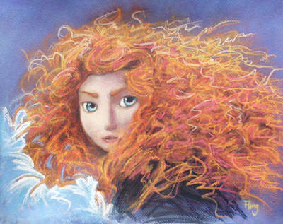 Fan Art Painting - Merida From Pixar's Brave by Andrew Fling