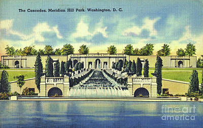 Augustana Mixed Media - Meridian Hill Park by Jost Houk