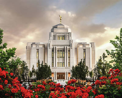 Lds Painting - Meridian Temple by Brent Borup