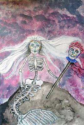 Painting - Meridol Queen Of The Undead Mermaids by Janice T Keller-Kimball