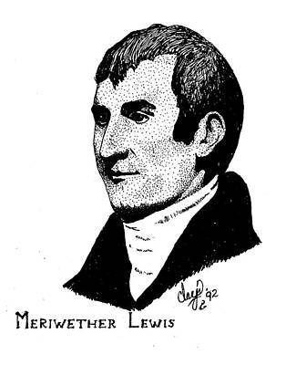 Drawing - Meriwether Lewis by Clayton Cannaday