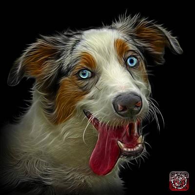 Painting - Merle Australian Shepherd - 2136 - Bb by James Ahn