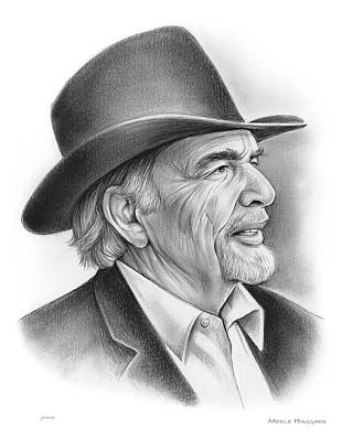 Drawing - Merle Haggard by Greg Joens