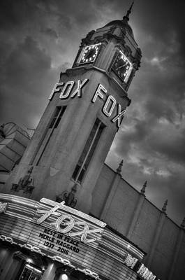 Photograph - Merle Haggard Rip Fox Theater Black And White by Connie Cooper-Edwards
