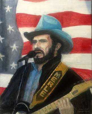 Painting - Merle Haggard Tribute  by Larry Lamb