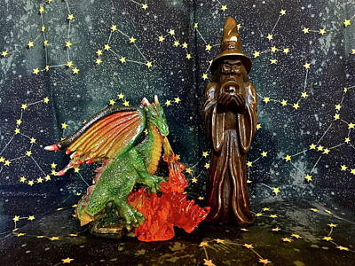 Photograph - Merlin And Dragon by Denise Mazzocco